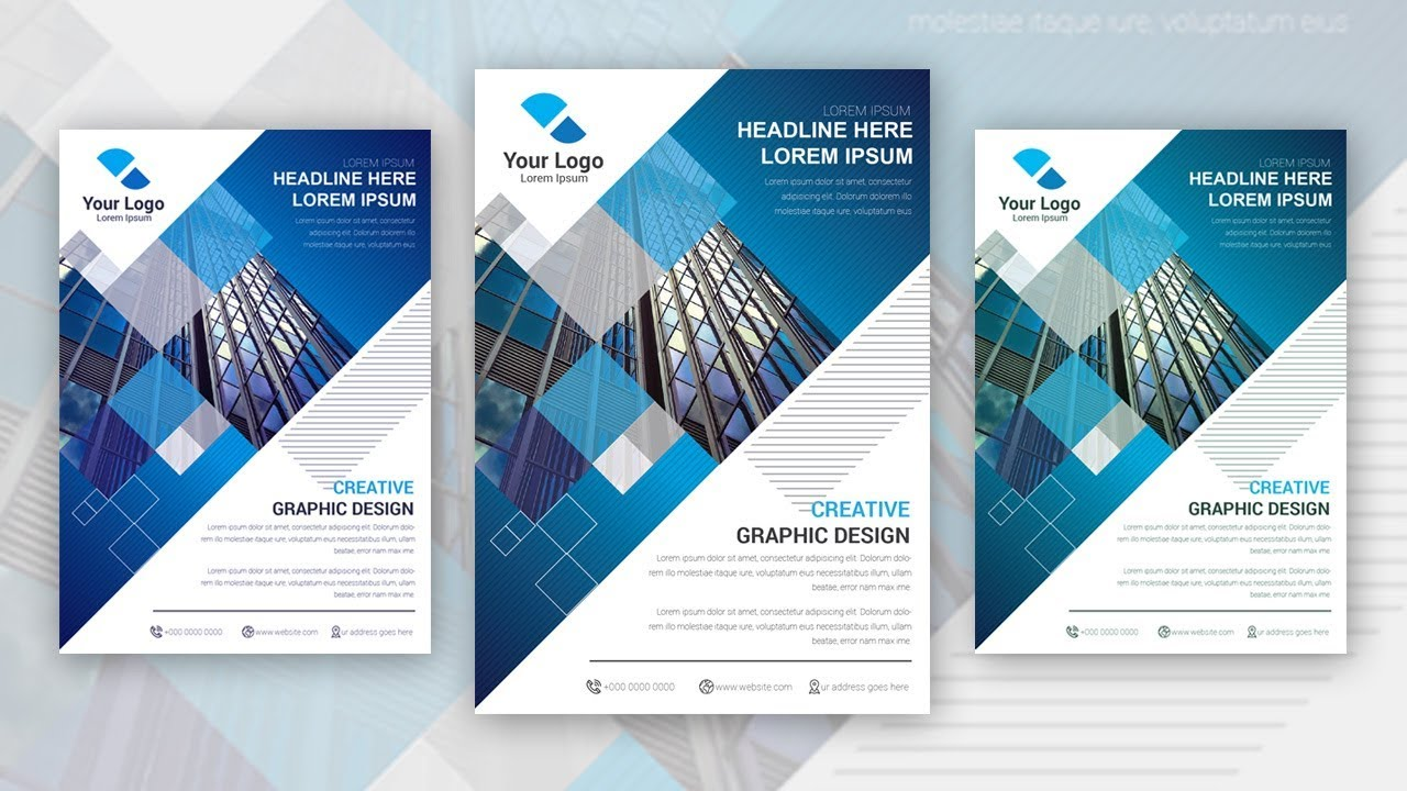 How To Make Professional Brochure Flyer In Adobe Ilrator Part 1