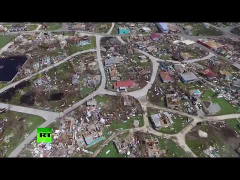 Paradise in ruins: Devastation caused by Irma in Barbuda (AERIAL FOOTAGE)