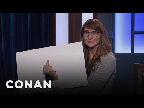 Dana In Cue Cards Reacts To Brett Kavanaugh  - CONAN on TBS