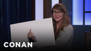 Dana In Cue Cards Reacts To Brett Kavanaugh  - CONAN on TBS