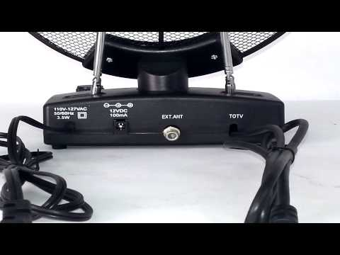 QFX Ant112 Power Amplified High Definition Indoor Tv Antenna