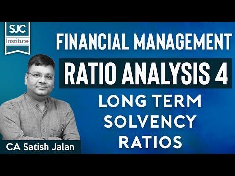 FM | Ratio analysis 4 - Long term solvency Ratios | Satish Sir