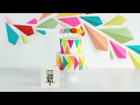 DIY SWEETS   Ombre Geometric Cake & Backdrop