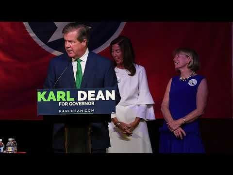 Karl Dean gives his victory speech
