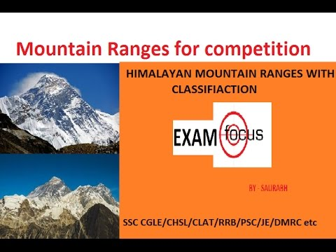 HIMALAYAN MOUNTAIN RANGES WITH CLASSIFICATION AND EXPLANATION