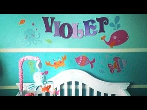 Nursery Tour Under The Sea Themed Baby Girl Nursery Youtube