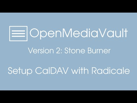 Setting up radicale (caldav server) in openmediavault