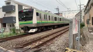 JR横浜線表谷戸踏切(踏切NO4番)を通過する列車。