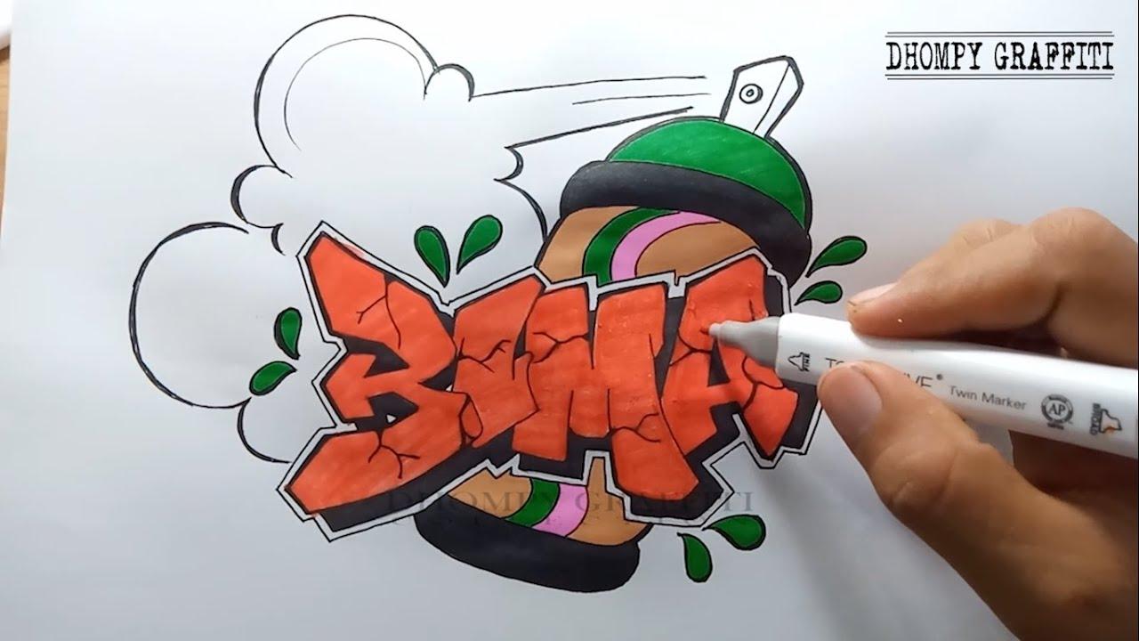 huruf grafiti gambar  menakjubkan 27 gambar grafiti nama