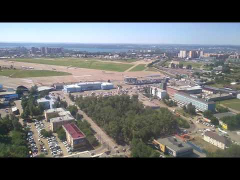 Заход и посадка в Иркутске