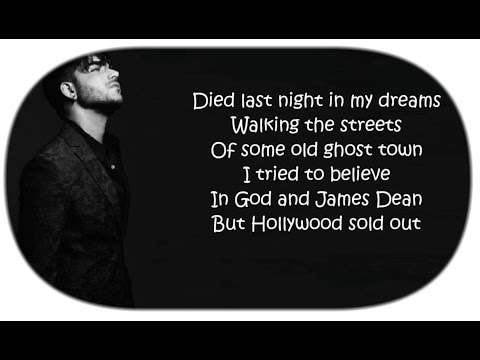 👻 Adam Lambert  ~ Ghost Town Lyrics 👻