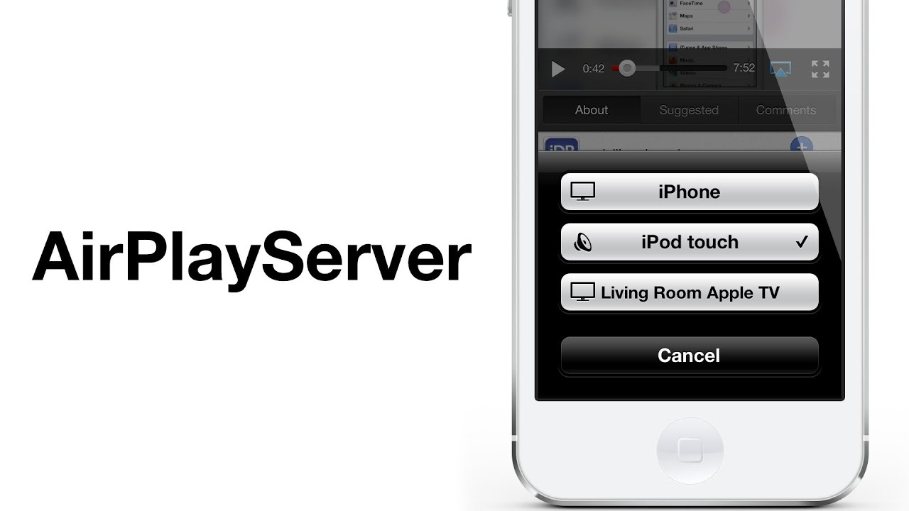 AirPlayServer' turns any jailbroken device into an AirPlay