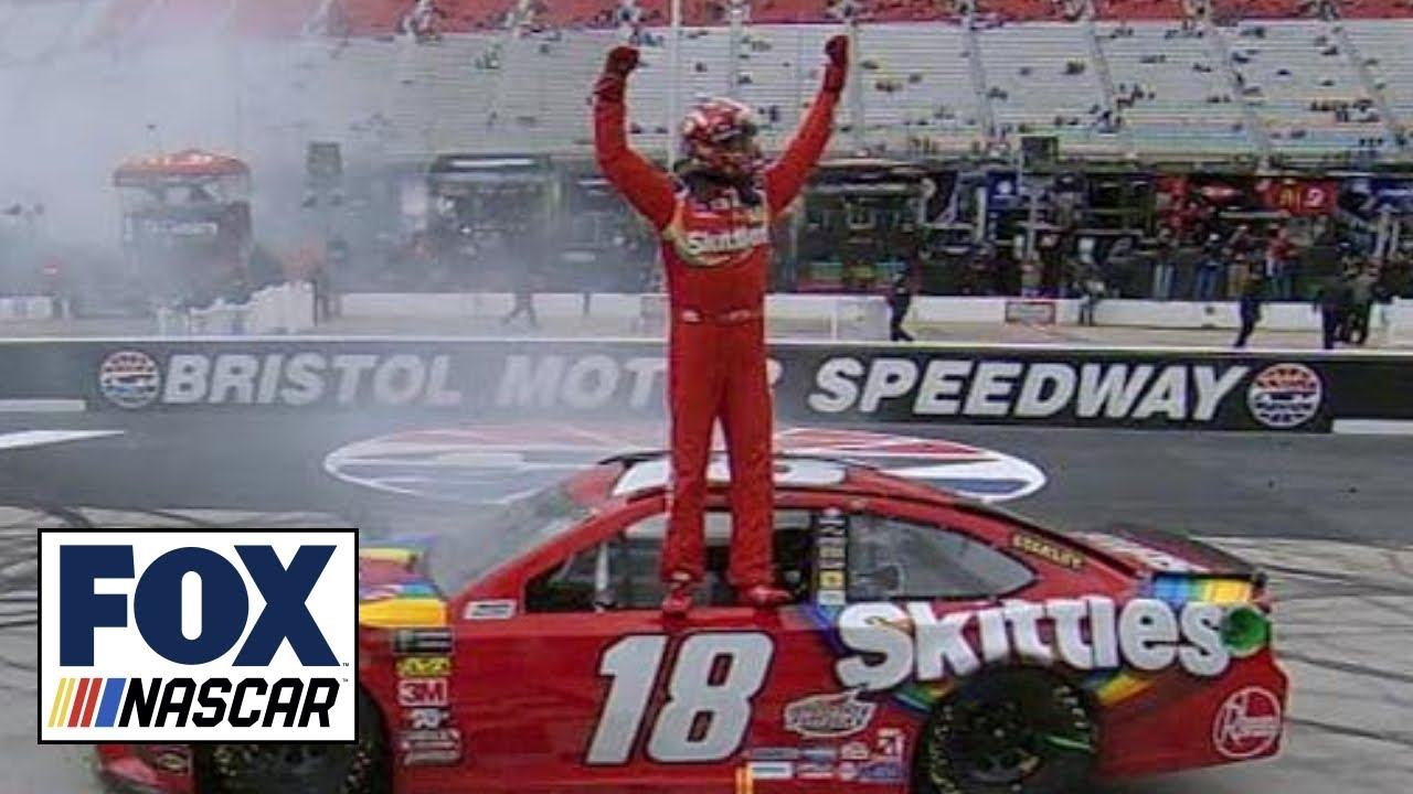 Kyle Busch holds off Kyle Larson for second straight win | 2018 BRISTOL