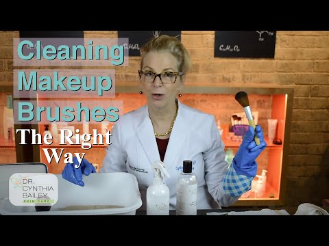 How to Clean Makeup Brushes (the right way!) [2018] Dr. Bailey Skin Care