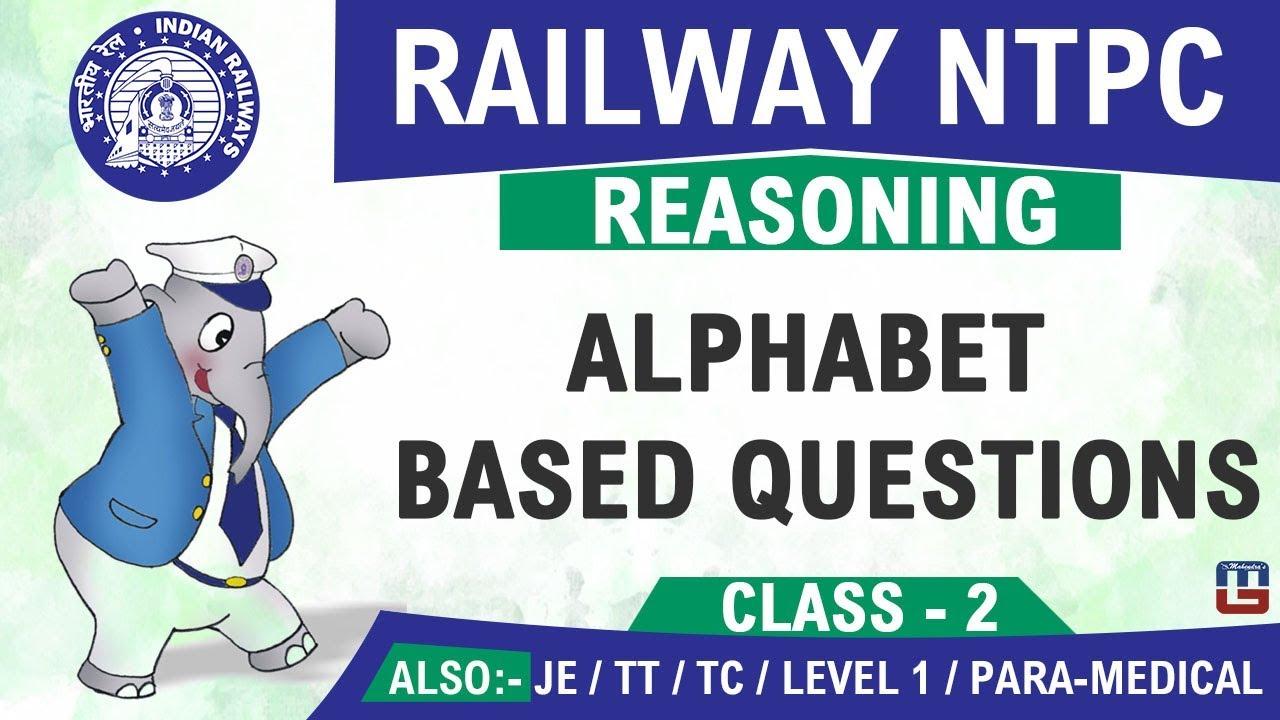 Alphabet Based Questions   Railway NTPC   JE 2019