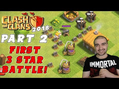 Clash of Clans Walkthrough: #2 - FIRST 3 STAR BATTLE! - (Android Gameplay Let's Play)