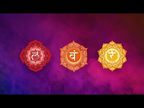 LOWER CHAKRAS HEALING MEDITATION MUSIC | Raise Self Confidence & Energy | Root, Sacral, Solar Plexus