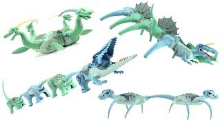 4 LEGO Hybrid Mutant Dinosaurs - Fantasy Mutant Dinosaur toys - Lego Dinosaur Speed Build