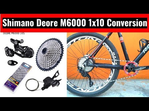 SHIMANO DEORE M6000 10 SPEED 1X CONVERSION | *3X8 TO 1X10* | Square Taper to Hollow Tech 2