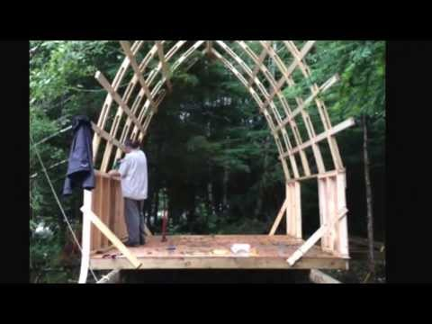 Bow roof cabin. Cheap, strong and light weight.
