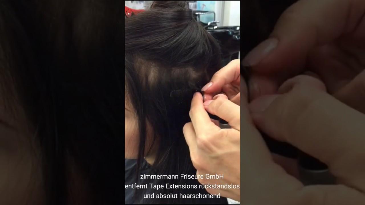 Kleber von haarverlangerung entfernen