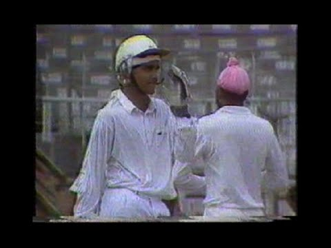 Little Sourav Ganguly hits an elegant drive in his debut match