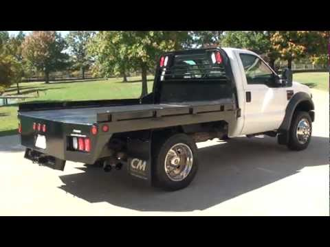 2008 FORD F450 REGULAR CAB 6 4L POWERSTROKE DISEL CM FLAT BED 6 SPEED FOR SALE SEE SUNSETMILAN COM