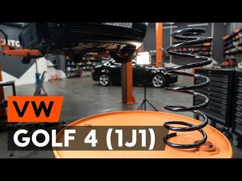 Как заменить переднюю пружину стойки амортизатора VW GOLF 4 (1J1) [ИНСТРУКЦИЯ AUTODOC]