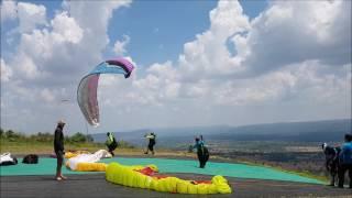 Take off compilation Paragliding XCamp Khao Sadao, April 2017, Thailand