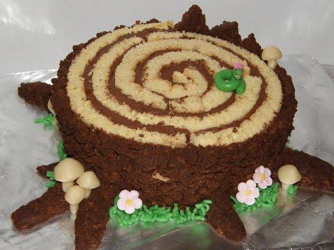 Торт пенек