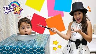 Maria Clara apresenta um show de mágicas  ✨ Maria Clara e JP shows magic tricks