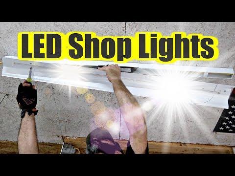 LED Shop Lights - Woodworking Shop