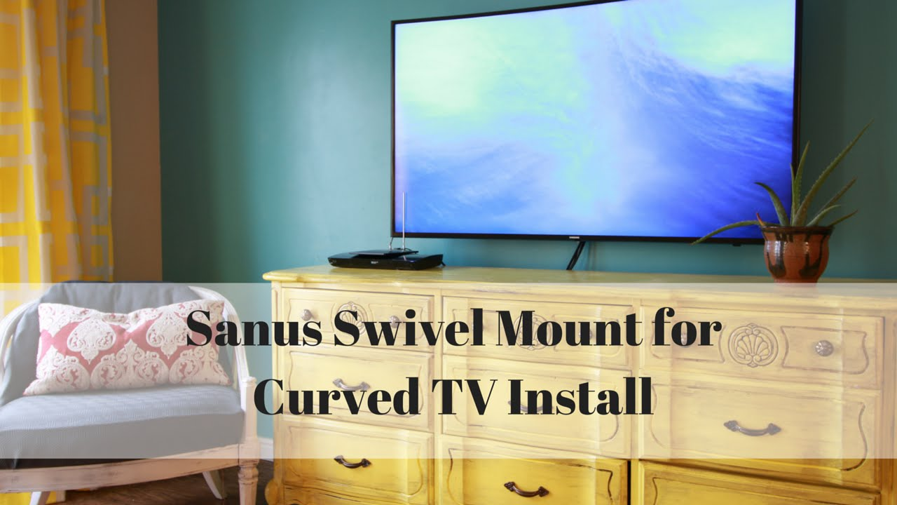 How To Wall Mount A Curved Tv With Sanus Swivel Mount Vlc1 B1 Youtube