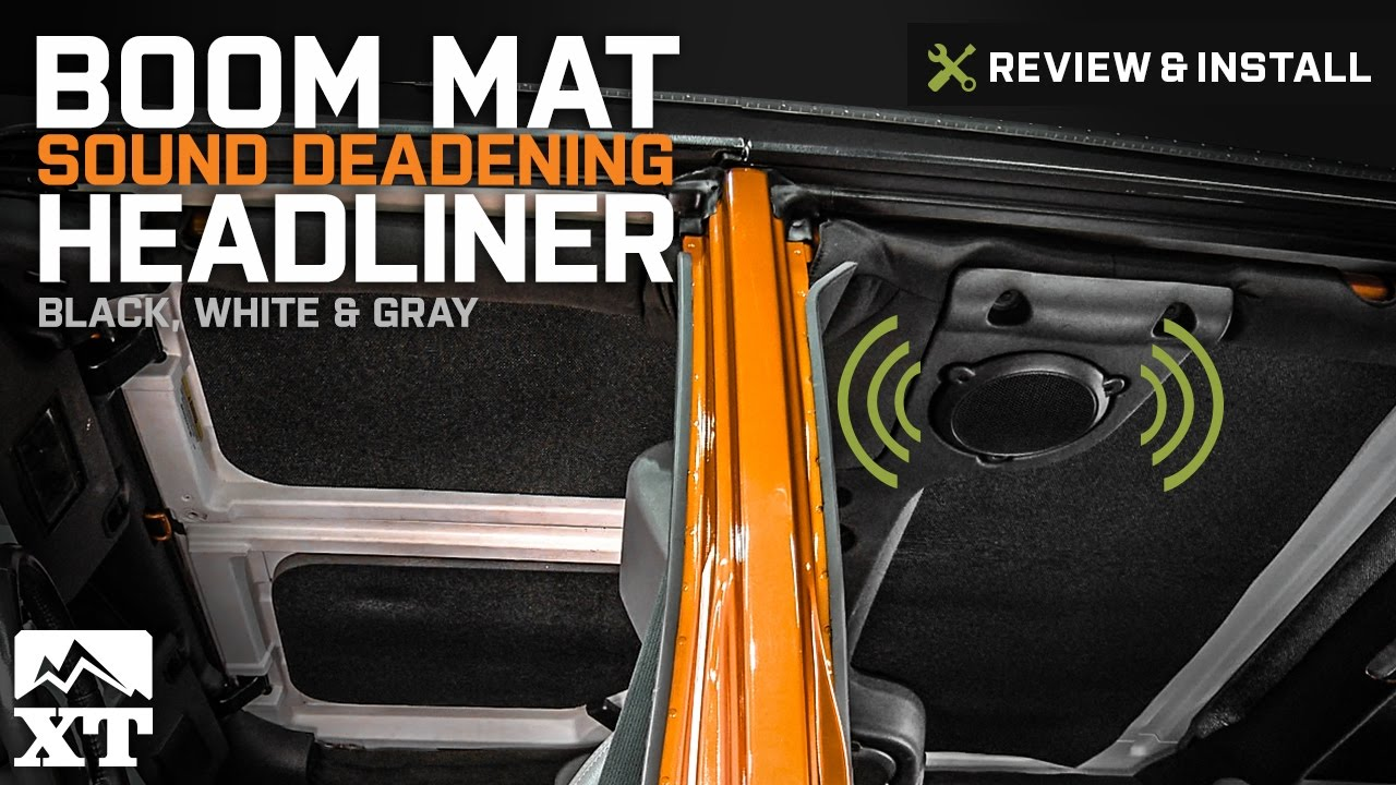 medium resolution of jeep wrangler boom mat sound deadening headliner 2007 2017 jk review install