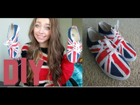 DIY Union Jack Shoes!