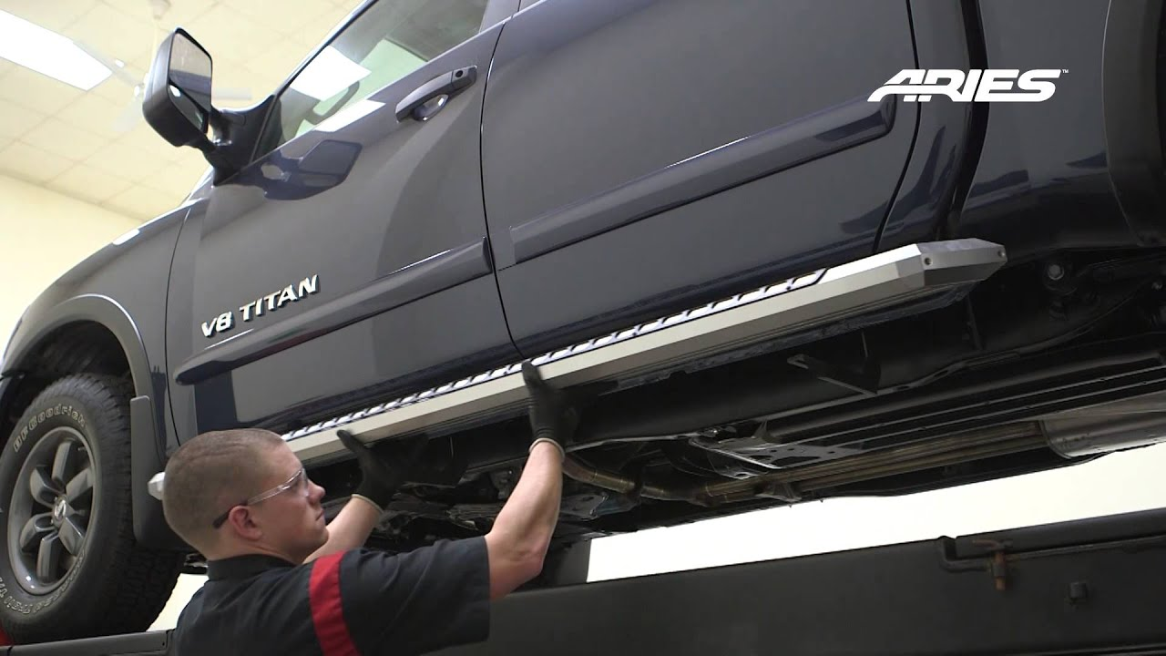 Beautiful ARIES AdvantEDGE™ Install 85 Side Bars On Nissan Titan Crew Cab Bracket  2055141