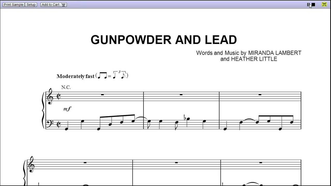 Gunpowder lead miranda lambert piano sheet music teaser gunpowder lead miranda lambert piano sheet music teaser hexwebz Gallery
