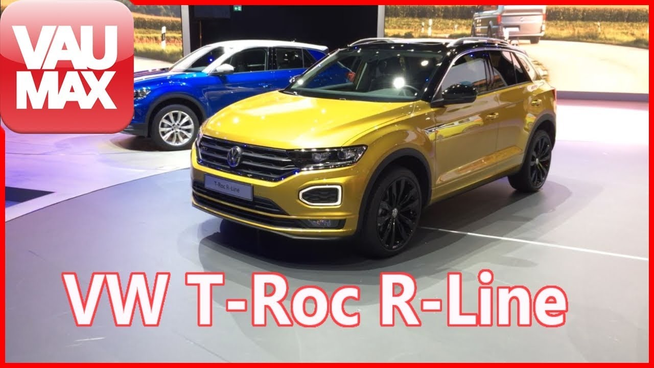 vw t roc r line iaa 2017 die details zum t roc im. Black Bedroom Furniture Sets. Home Design Ideas