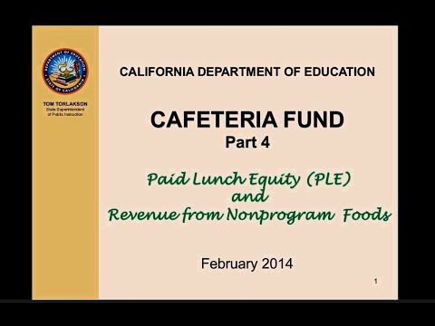Cafeteria Funds Part 4 - Paid Lunch Equity