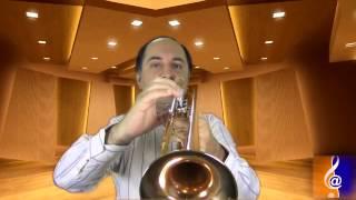 Aula de trompete no Conservatório Digital