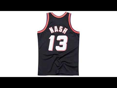 quality design d3185 dbc19 Steve Nash Phoenix Suns Mitchell and Ness Men's Black Throwback Jesey  X-Large