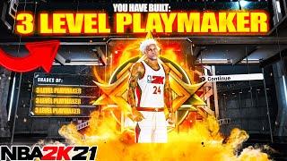 FIRST LEGEND \3 LEVEL PLAYMAKER\ IS A DEMIGOD ON NBA2K21(RARESTBUILD)