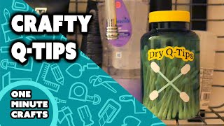 CRAFTY Q-TIPS - One minute Crafts