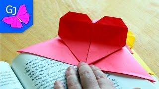 Закладка сердечко из бумаги