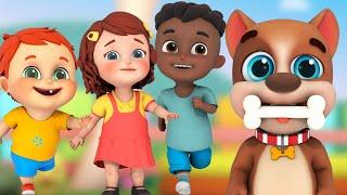 bingo dog song | The wheels on the bus | ABCs 123s | jugnu kids nursery rhymes & kids songs
