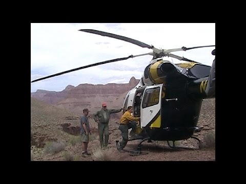 Grand Canyon helicopter rescue - Hiker down - 911