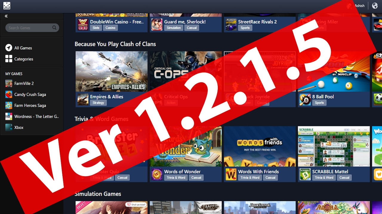 Facebook Gameroom Update