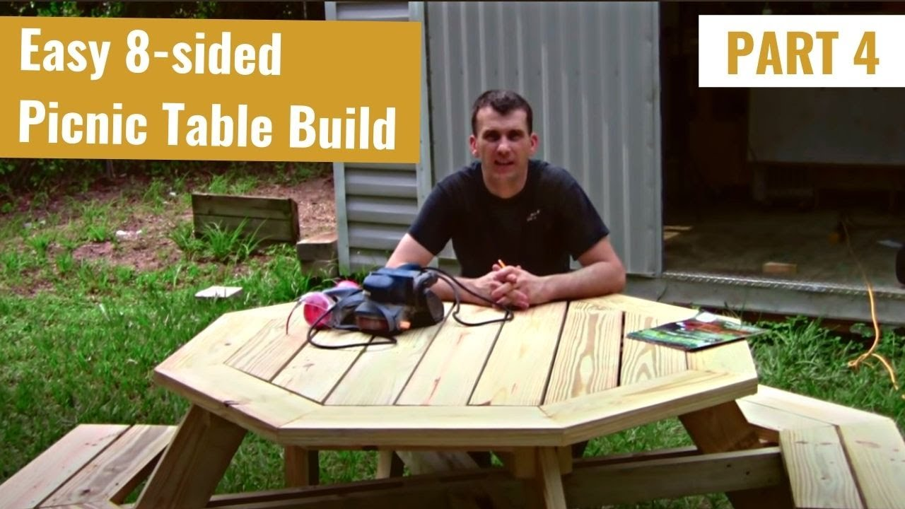 Build an Octagon Picnic Table Part 4 - YouTube