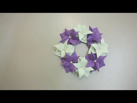 Easy Paper wreaths | DIY Room Decor fabulous wreaths | Origami wreaths