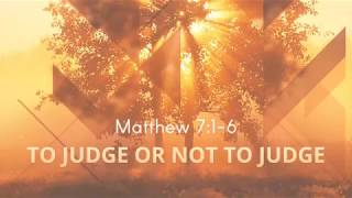 To Judge or not to Judge - March 11, 2018